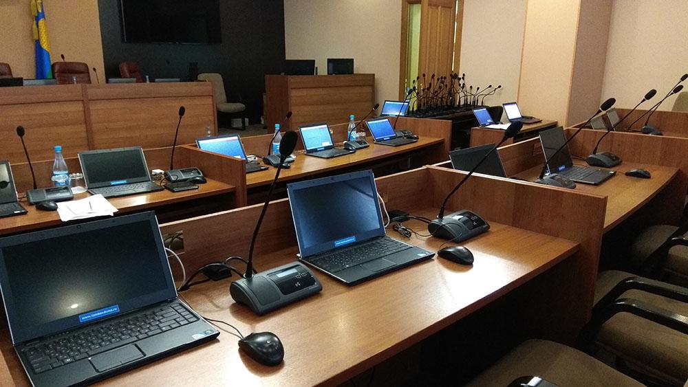 Пульты VISSONIC в зале заседаний Тамбовской городской Думы