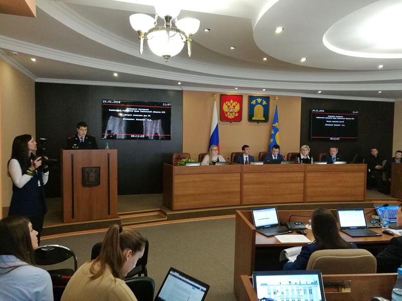Заседание в Тамбовской городской Думе с использование конференц-системы VISSONIC