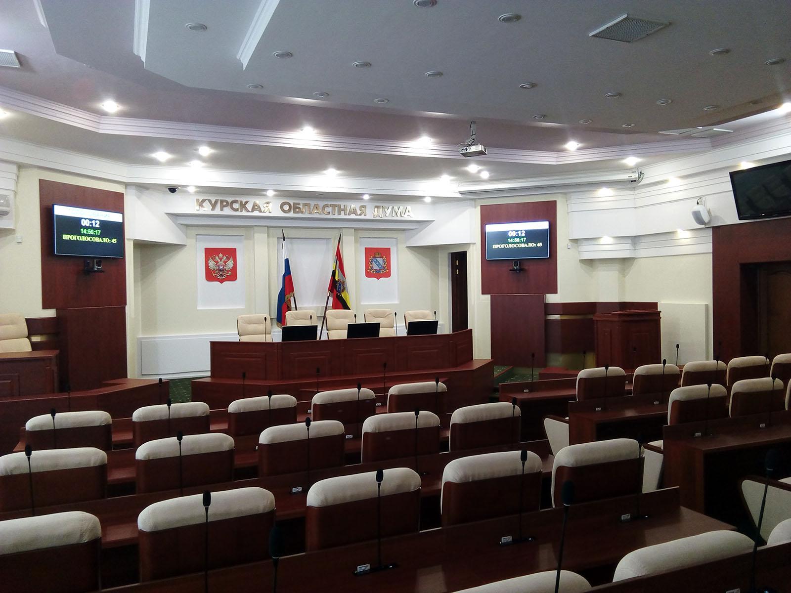 Панели NEC для отображения хода голосования