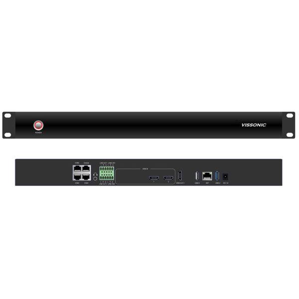Профессиональный видеорекордер VIS-CRS02-A. Вид спереди и сзади