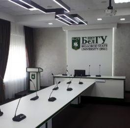 Беспроводная конференц-система VISSONIC CLEACON Wireless в БелГУ. Общий вид
