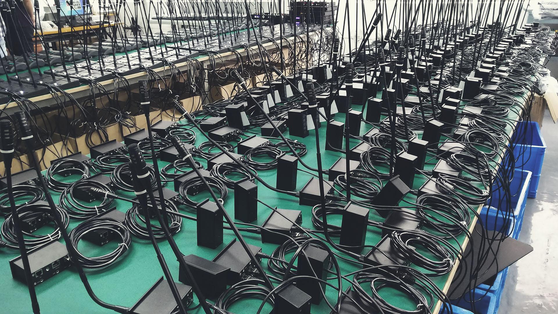 Сборочный цех конференц систем VISSONIC